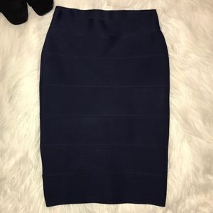 BCBG MaxAzria Alexa textured power skirt